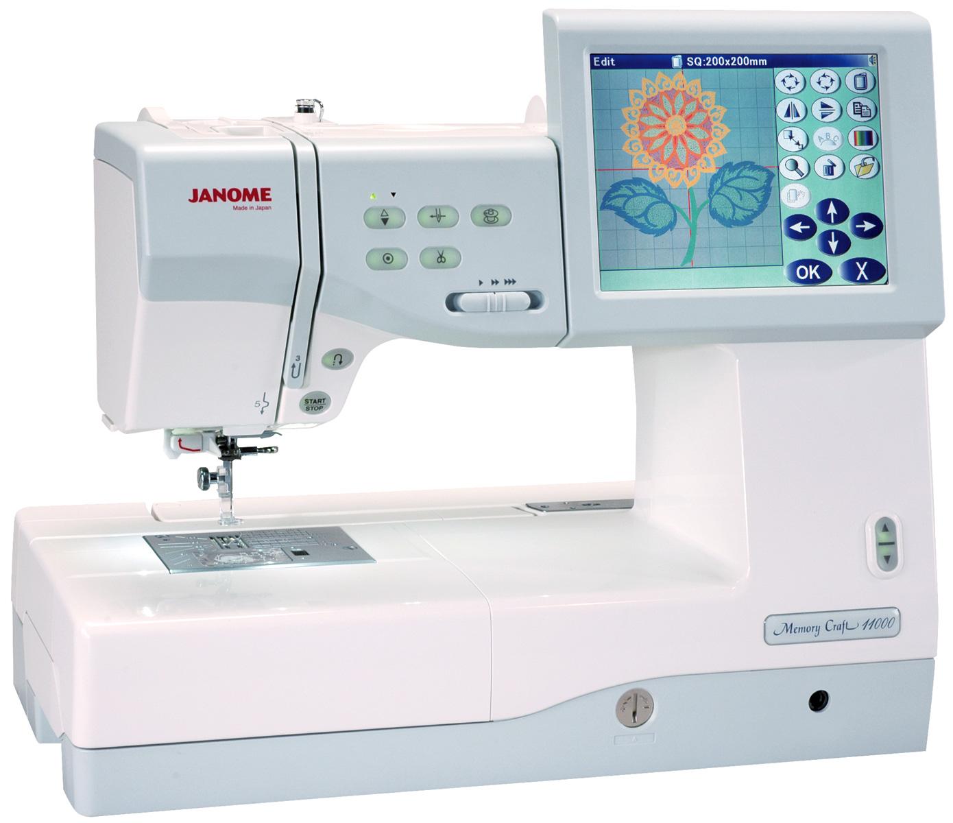 Швейная машинка компьютерной вышивкой
