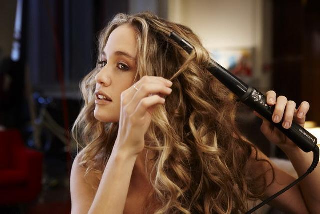 Завивка щипцами волос