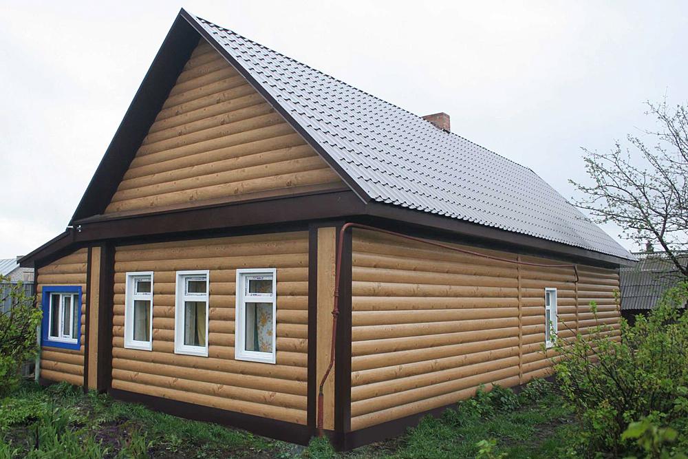 Обшивка деревянного дома фото