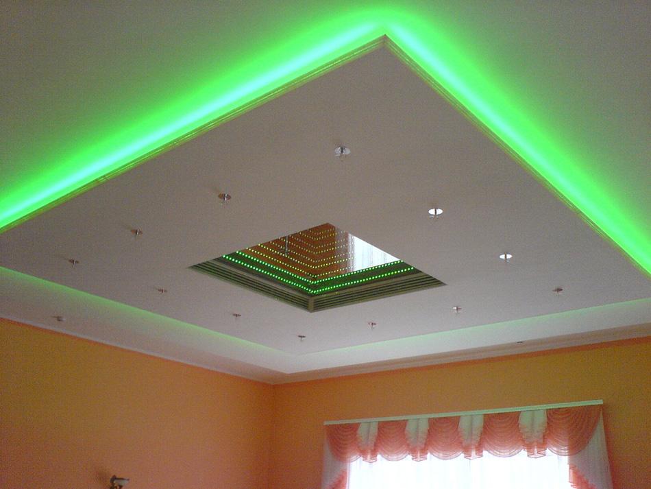 Подсветка на потолок своими руками фото