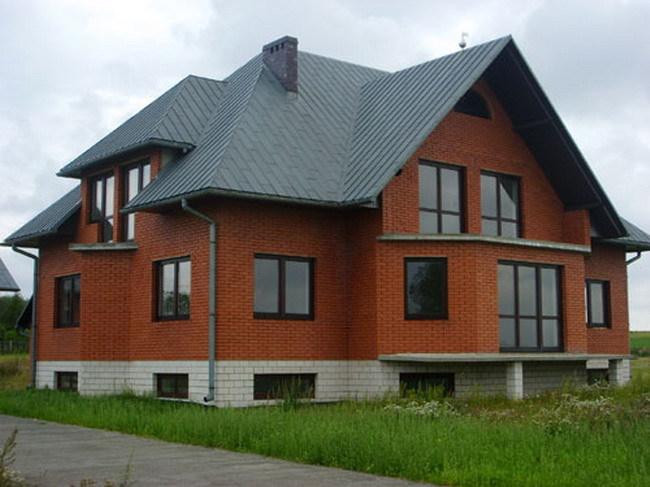 Кирпичный дом своими руками фото