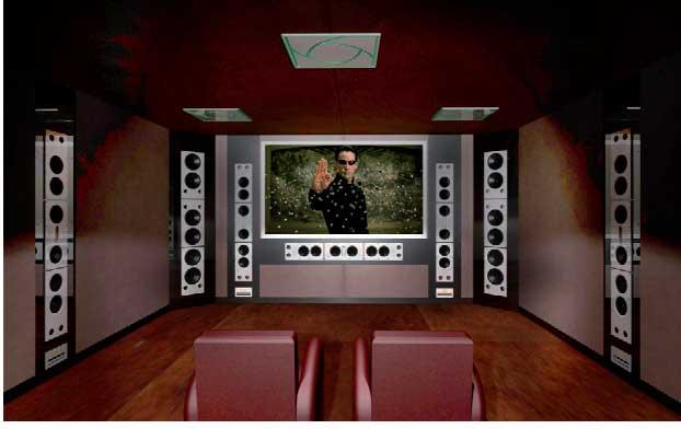 Если вам позволяет пространство, мы можем полностью оборудовать комнату под кинотеатр