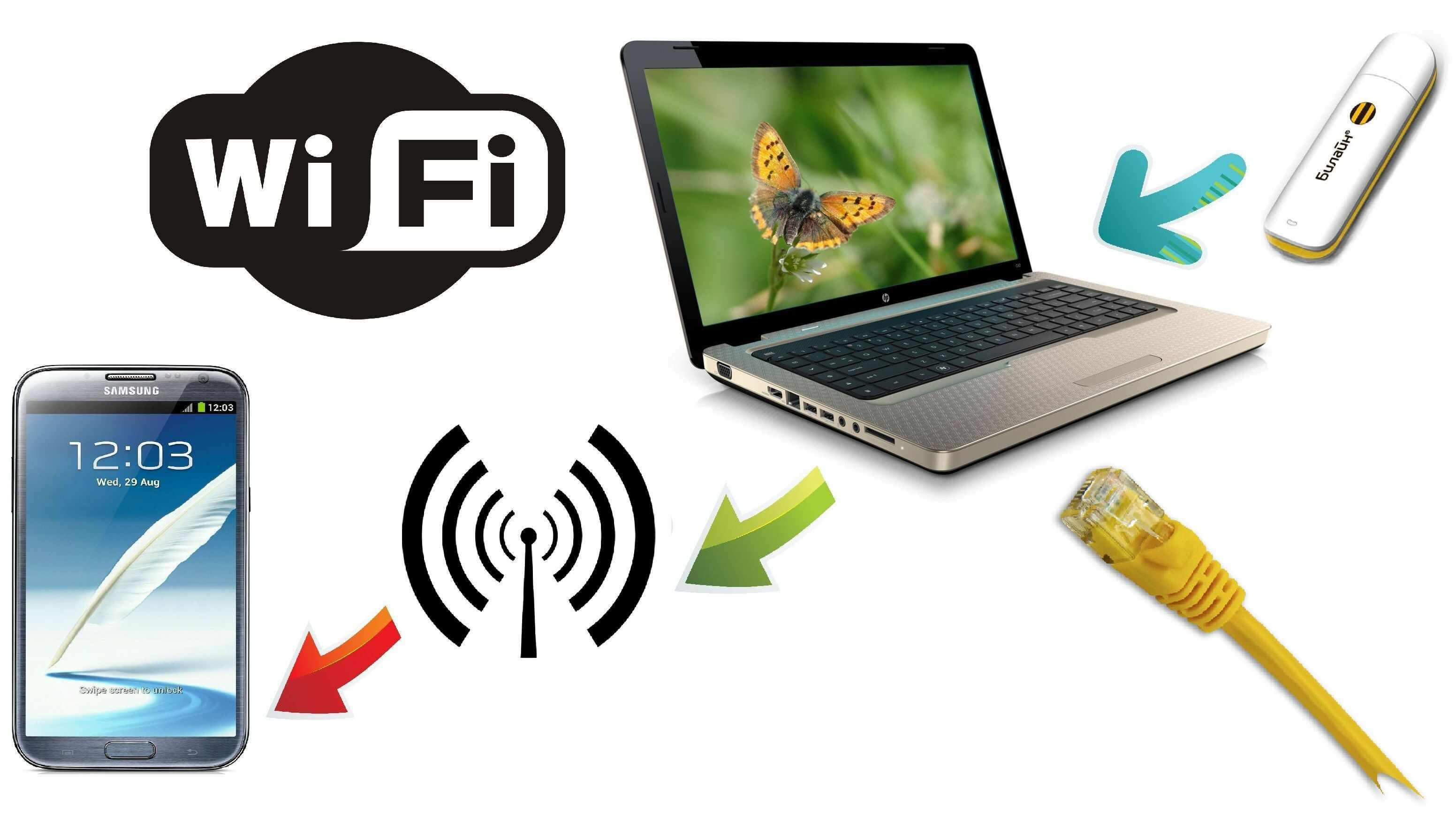 Как сделать ноутбук wifi раздающим 210