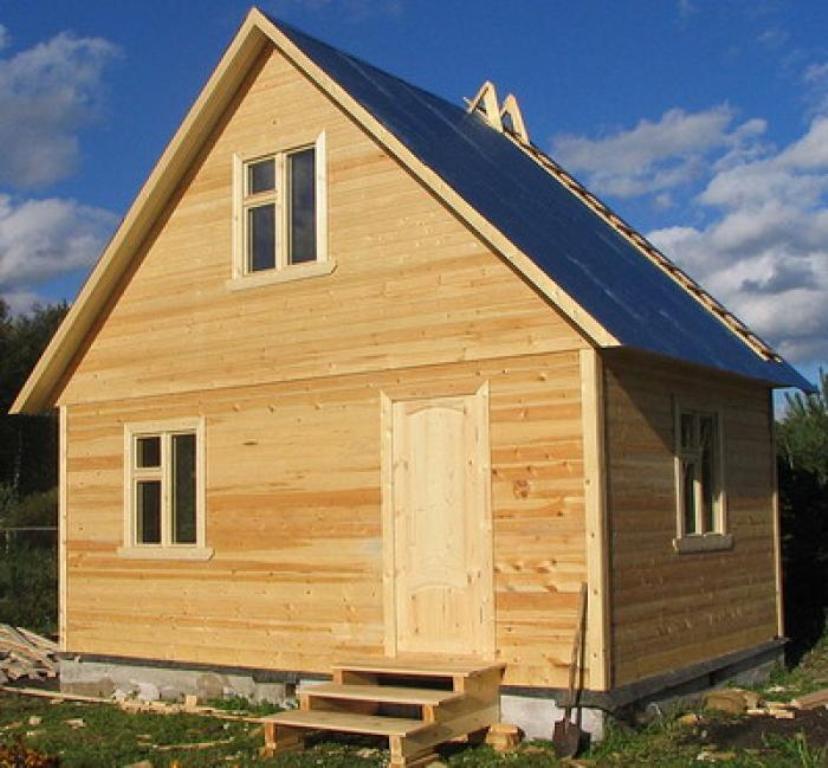 Дом на даче своими руками из бруса