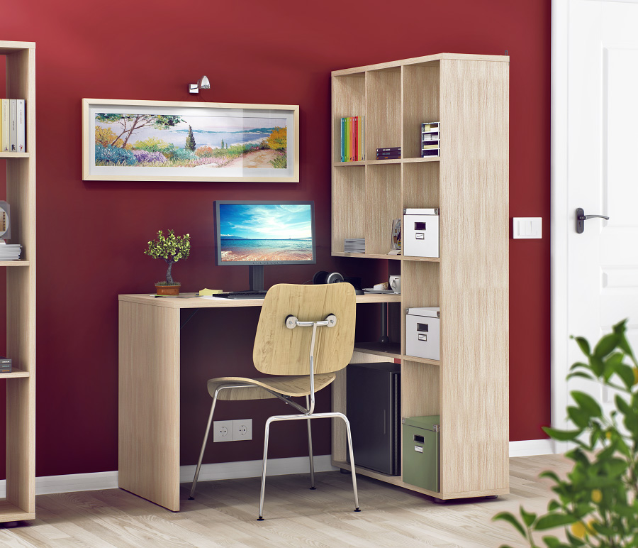 Мебельный комплект столплит техно сб-2303 (стеллаж и стол) -.