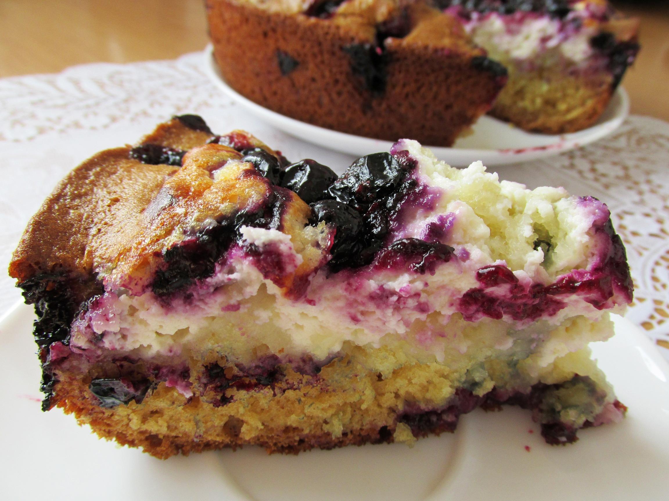 Пирог с творогом и ягодами в духовке рецепт пошагово в