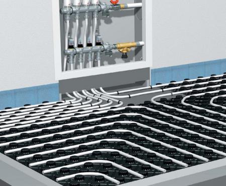 схема водяного теплого пола по грунту