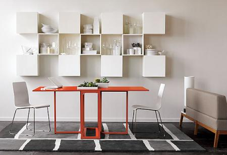 Orange dining room sets