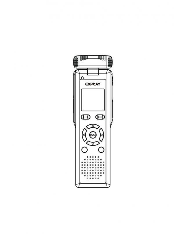 Цифровой диктофон Explay VR-A71, схема.