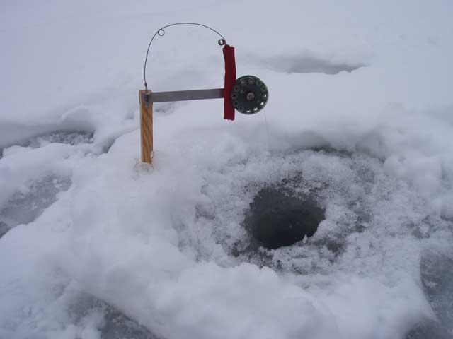 Зимняя рыбалка на самолов