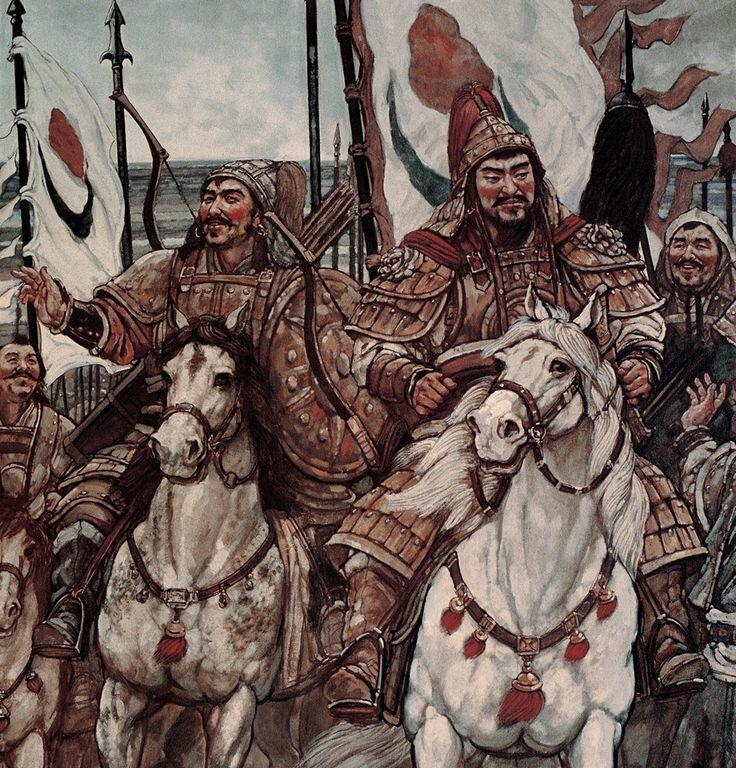 картинка монголо татар разукрасьте
